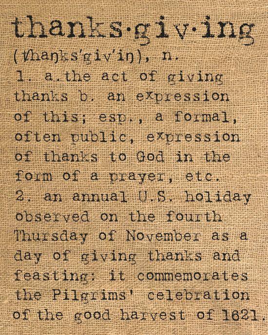 Thanksgiving Faux-Burlap Printable